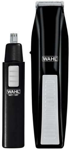 wahl 5537 1801 cordless battery operated beard trimmer with bonus ear nose and brow trimmer. Black Bedroom Furniture Sets. Home Design Ideas